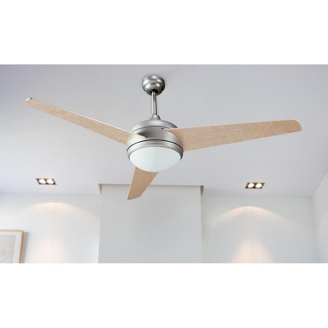 Ventilador de techo con luz y mando ai32 cr - Luz de techo ...