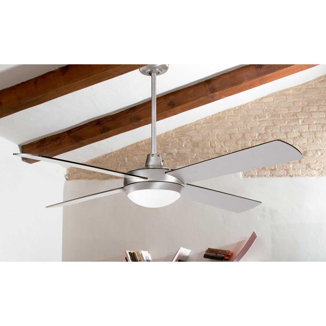 ventilador de techo con luz y mando ai24 cr